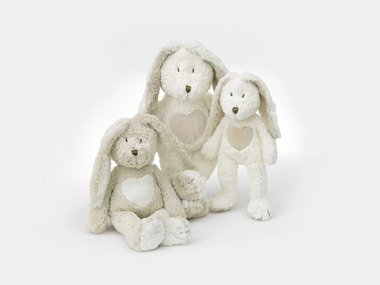 Teddy Cream Rabbit, medium grey