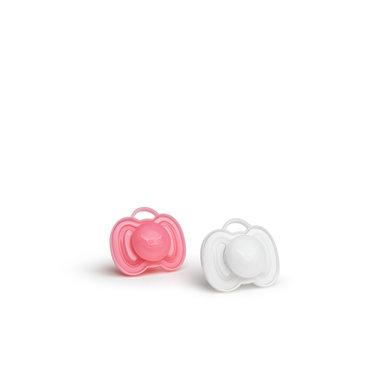 Herofopspeen 0m+ (2 Pack) roze/wit