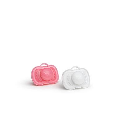 Herofopspeen 6m+ (2 Pack) roze/wit
